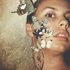 53/365 Butterflies (IvaYaneva) Tags: selfportrait me face butterfly roulette unusual silenceofthelambs fgr 365days