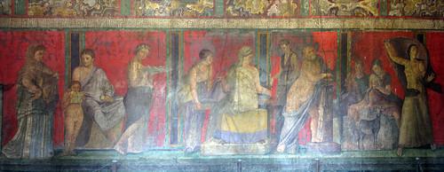 Affreschi alla villa dei Misteri, Pompei scavi.