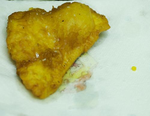 Crisp battered fish
