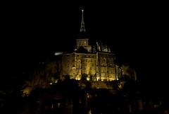 Vue nocturne du Mont Saint Michel