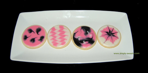 pink and black birthday cookies 2nd photo