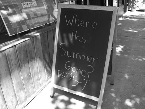 Summer tasting sign