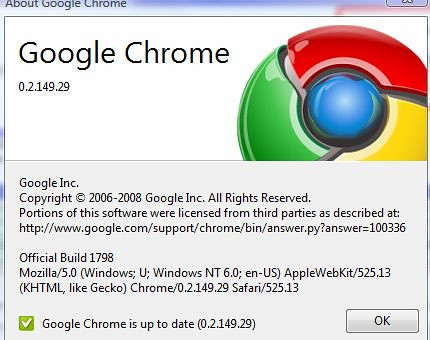 Latest version of Google Chrome