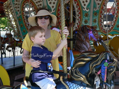 NHL with Aunt L on the merry-go-round