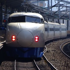 Shinkansen Series 0 is Leaving Kokura (hirosan) Tags: west station train flickr jr explore finepix fujifilm  shinkansen bullettrain superexpress kokura  s100fs