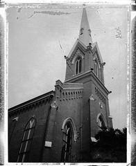 Church (Neil Kesterson) Tags: church polaroid lexington kentucky papernegative polaroid210 polaroidautomatic210 polaroidautomatic210landcamera ourkentucky