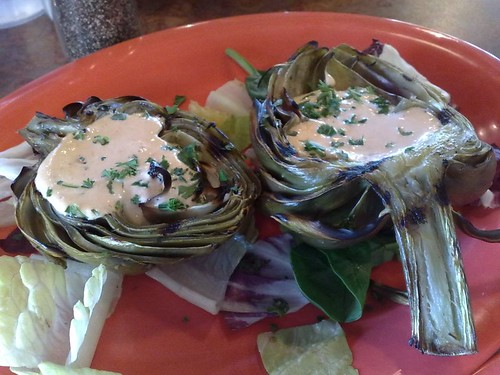 Wine Grilled Artichoke
