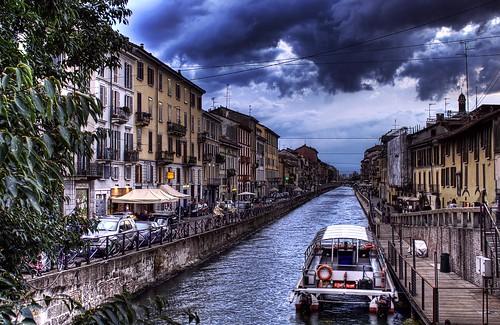 Naviglio Grande Milano Milan Italy Venice Italy