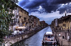 naviglio grande, milano / milan - italy (Paolo Margari) Tags: old sky urban italy panorama house milan clouds canon river photography boat canal photo italian italia nuvole foto photographer geometry milano perspective photographers case cielo housing fotografia residential canoneos lombardia depth hdr channel battello channels canale fotografo citt navigli fotografi prospettiva geometrie navigliogrande profondit italianphotographers residenziale paolomargari fotografiitaliani canalinavigabili