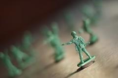 Army Guys on the Fridge