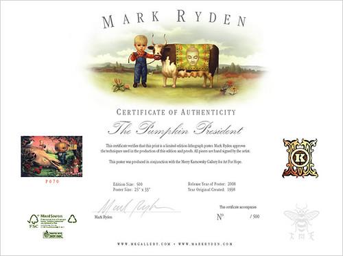 Ryden - Pumpkin President certificate