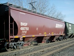 BNSF Railway covered grain hopper car. Hawthorne Junction. Chicago / Cicero Illinois. March 2007. by Eddie from Chicago