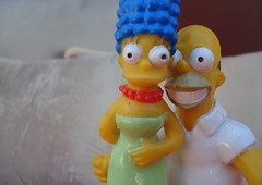 Marge & Homer (Srch) Tags: love colors toys pareja amor simpsons homer thesimpsons forever marge simpson homero matrimonio juntos homersimpson loveme enamorados esposos margesimpson lossimpsons homerosimpson