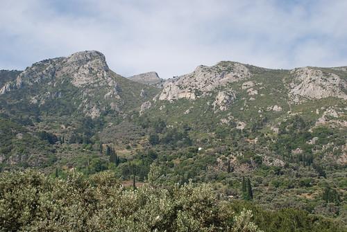 bergen ovanför Kokkari