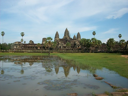 Angkor Wat and pool