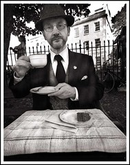 Tea for One (Tony Browne) Tags: china england blackandwhite bw cup monochrome bristol tea traditional nb retro butler gentleman englishman jeeves aficionados serviette architype fastidious bristoldo