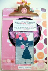 Altered Clipboard for Mixed Media Monday (MyTangerineDreams) Tags: altered audreyhepburn clipboard mixedmediamonday challengehandmadepapercraft