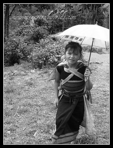 Lao Girl with Toddler