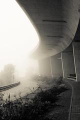 bridge to nowhere (SullenSquid) Tags: road bridge fog nebel nowhere curve brcke endless kurve strase