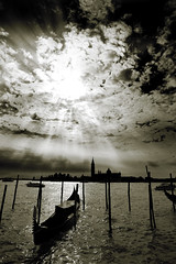 San Giorgio Maggiore, Venice (.craig) Tags: venice italy sun reflection church water clouds italia chapel lagoon explore mooring gondola pilings sunrays venezia grandcanal sanmarco adriaticsea moorings sangiorgiomaggiore pilars venicelagoon artlegacy anabadili