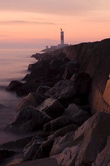 (Picture Pages by Patrick) Tags: morning sky lighthouse lake color water rock fog clouds sunrise concrete pier illinois warm lakemichigan waukegan breakwater becon waukeganbeach waukeganharbor flickrchallengegroup flickrchallengewinner