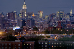 blue new york (gsgeorge) Tags: city nyc newyorkcity longexposure urban brooklyn night cityscape dusk manhattan