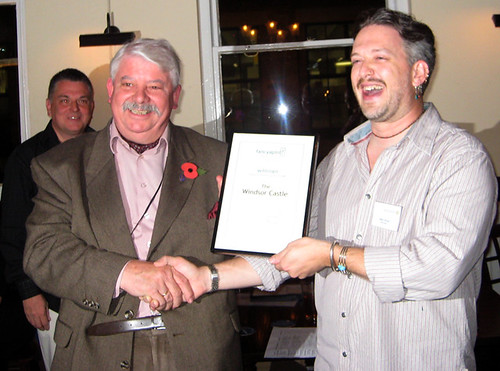 Landlord of the Windsor Castle with Fancyapint.com Pub Award