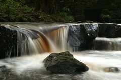 PICT0035 (hudman1970) Tags: england blur water leaves river sheffield slowshutter waterfalll rivelinvalley