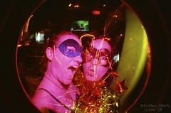 Sparkle Explosion (plaidleaf) Tags: friends fun lomo lomography colorful colorsplashflash kodakgold200 fisheye2