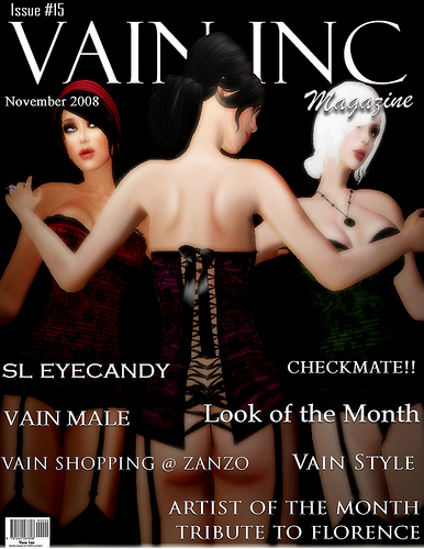Issue #15, Vain Inc. Magazine Covergirls