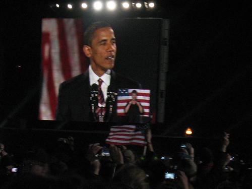 Barack on the big screen