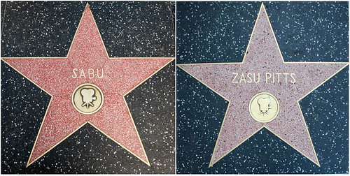 Zasu Pitts's and Sabu's Walk of Fame Stars
