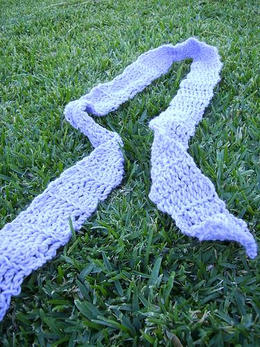 Lilac Crochet Scarf
