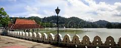 Panoramic view of Kandy Lake and greenery, Sri Lanka (Theekshana Kumara/ Imagebook) Tags: lake horizontal solitude day outdoor nobody images panoramic lamppost greenery srilanka kandylake nonurbanscene imagebook
