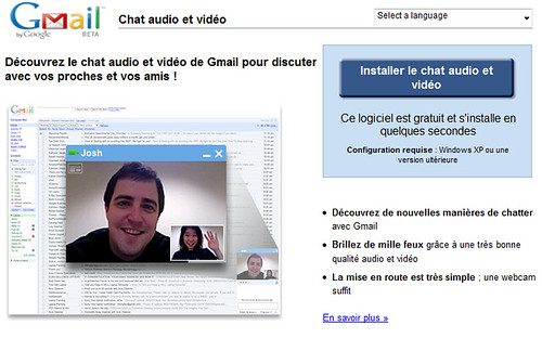 Google - Audio et Video dans Gmail