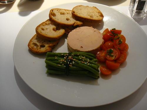 Judias verdes, Foie Gras y Tomates Cherry