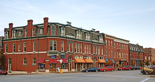Lafayette Square Neighborhood, in Saint Louis, Missouri, USA - businesses