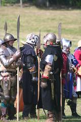 IMG_5366 (jgmdoran) Tags: canon flags archer reenactment 2007 militaryodyssey platemail lancastrians billhook arquebus waroftheroses highmedieval yorkists