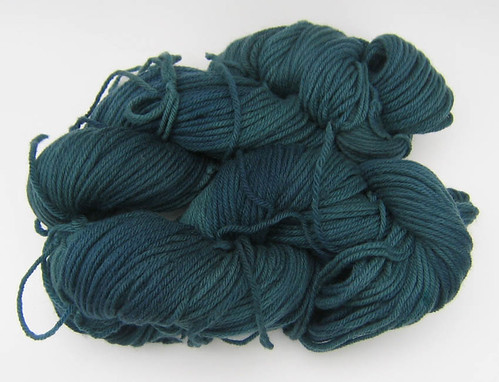 dyed teal worsted