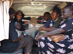 Returning from Kampala in the ambulance