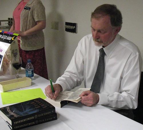 Erik Larson book signing