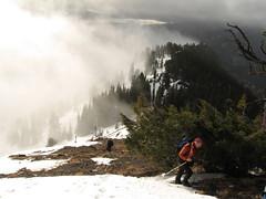 David (Opus) and Bob on west ridge