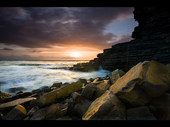 High Tide at Nash Point (dotcomjohnny) Tags: sunset sea sun nature water wales canon landscapes sand glamorgan sigma1020mm sigmalens canon30d nashpoint heritagecoast d