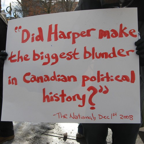 Political Sign Spotted at Pro-Coalition Rally in Peterborough, Ontario