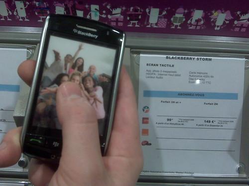 Blackberry 9500 Storm chez ThePhoneHouse