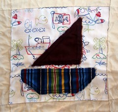 sailboat quilt square - bled