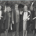 Acting Director of Community Programmes, Mr John Collins with new graduates who commenced their undergraduate degrees from the Open Foundation Course, the University of Newcastle - 1989