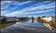 Petaluma Turning Basin HDR (michael'sphotography) Tags: california moon river landscape landscapes nikon petaluma sonomacounty hdr d90 tamron1750mm nikond90