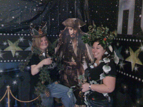Holly and Wood jump Jack Sparrow