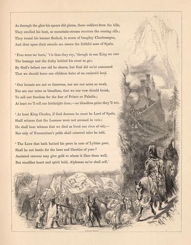 004- La marcha de Bernado del Carpio- grabado borde de pagina